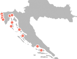 Tourist maps of Croatia